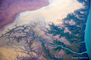 Abstract Aerial Landscape Photo Print of Alligator River Australia by David Taylor