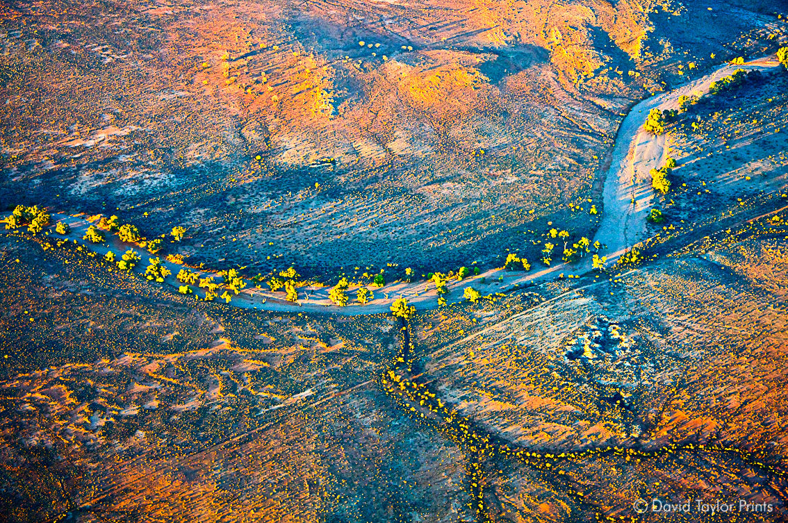 Abstract Aerial Landscape Photo Print of Broken Hill Australia by David Taylor