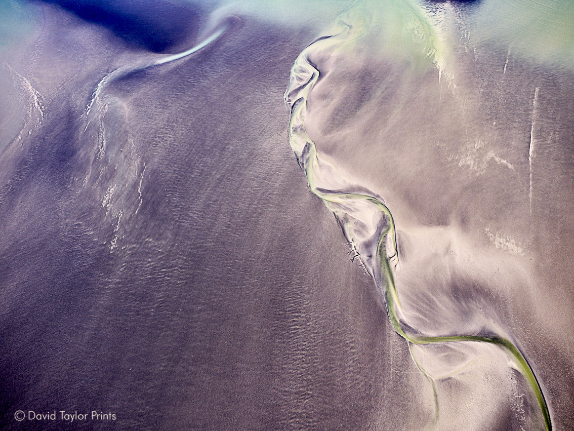 Abstract Aerial Landscape Photo Print of Broome Australia by David Taylor