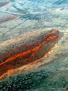 Abstract Aerial Landscape Photo Print of Diamantina River Australia by David Taylor