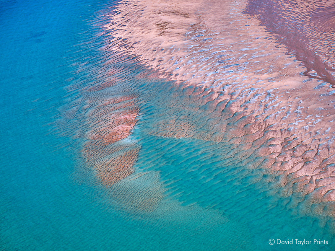 Abstract Aerial Landscape Photo Print of Eighty Mile Beach Australia by David Taylor