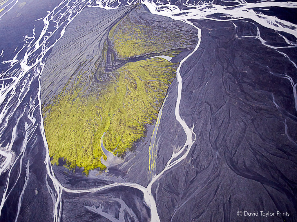 Abstract Aerial Landscape Photo Print of Iceland by David Taylor