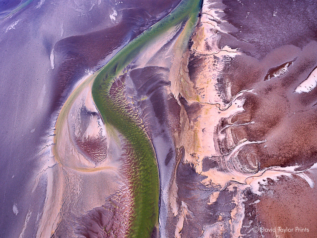 Abstract Aerial Landscape Photo Print of Karratha Australia by David Taylor