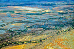 Abstract Aerial Landscape Photo Print of Lake Eyre Australia by David Taylor