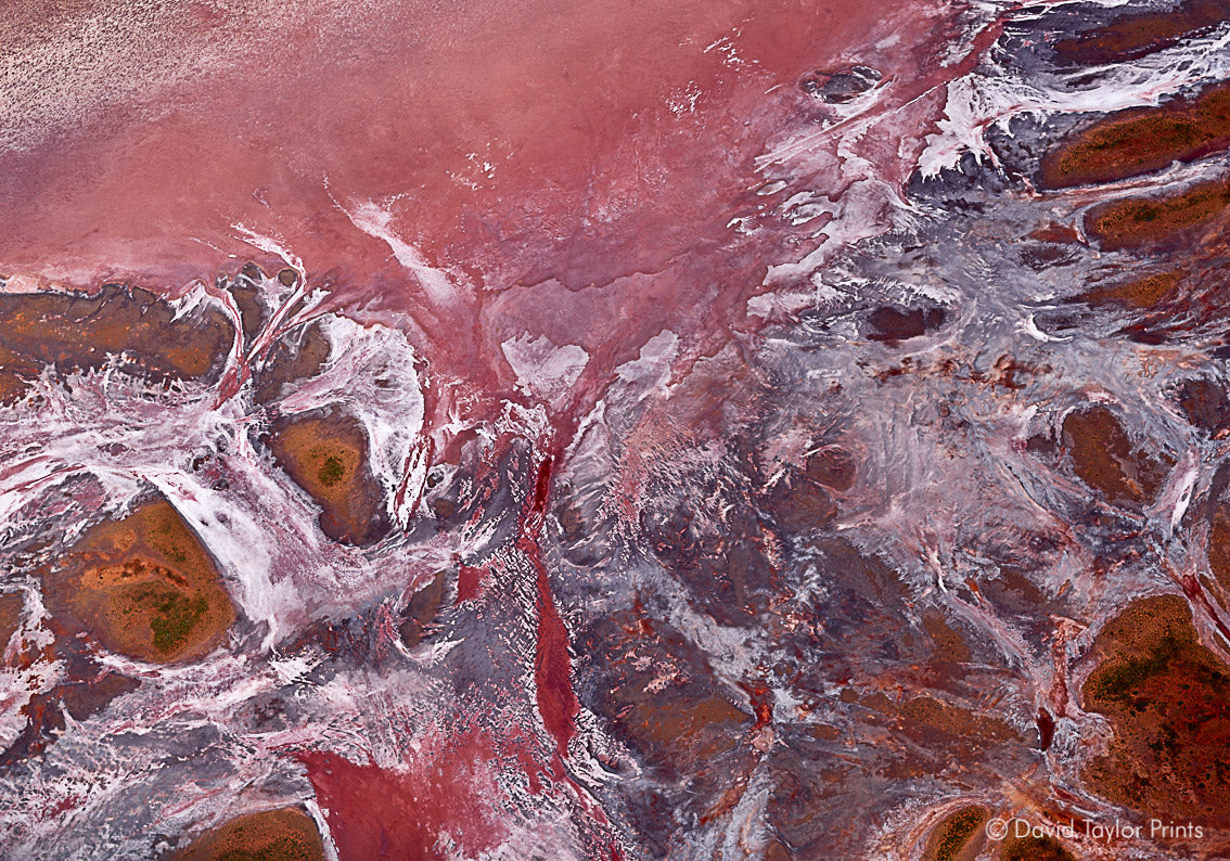 Abstract Aerial Landscape Photo Print of Port Hedland Australia by David Taylor