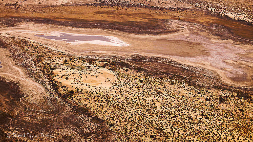 Abstract Aerial Landscape Photo Print of Lake Frome Australia by David Taylor