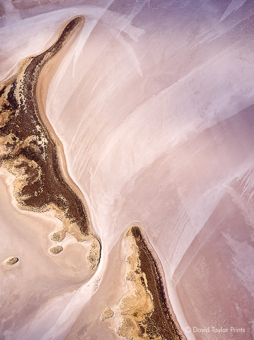 Abstract Aerial Landscape Photo Print of Lake Tyrrell Australia by David Taylor