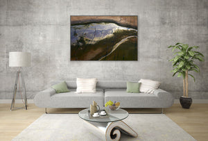 Abstract Aerial Landscape Photo Print of Lake Hume Australia by David Taylor