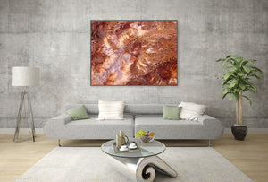 Abstract Aerial Landscape Photo Print of Painted Hills Australia by David Taylor