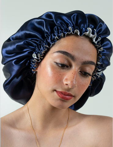 satin headcap for curls