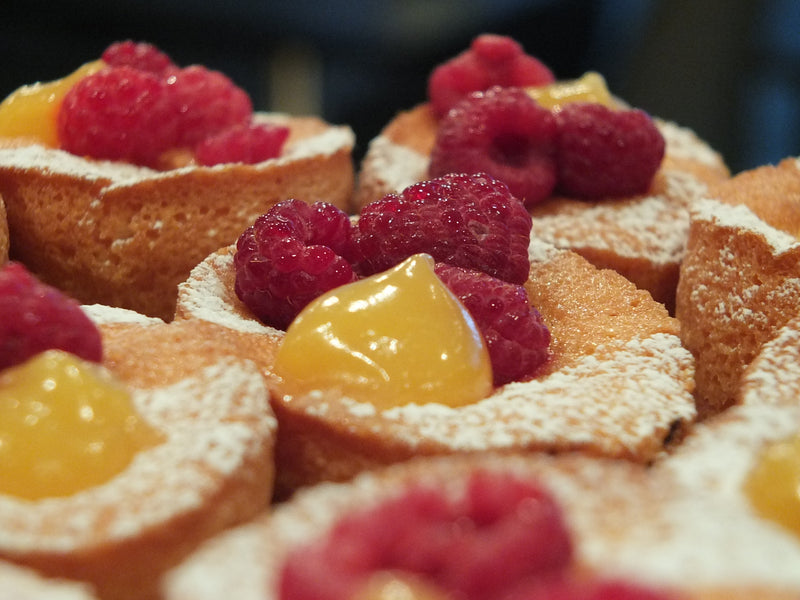 Cafe, Coffee, Cake, Restaurant, Raspberry Friands