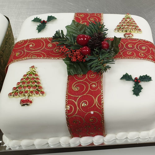 Iced All Over Christmas Cake