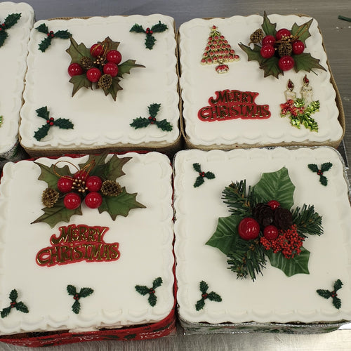 Iced on Top Christmas Cake