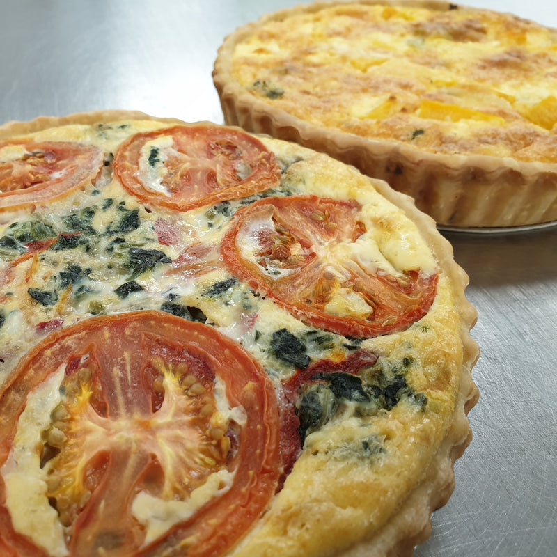Family Quiche - Salmon & Cream Cheese -