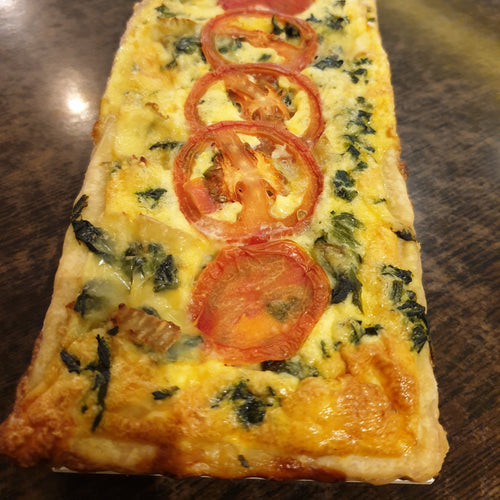 Long Quiche Varieties - Honey Smoked Chicken with Red Pepper -