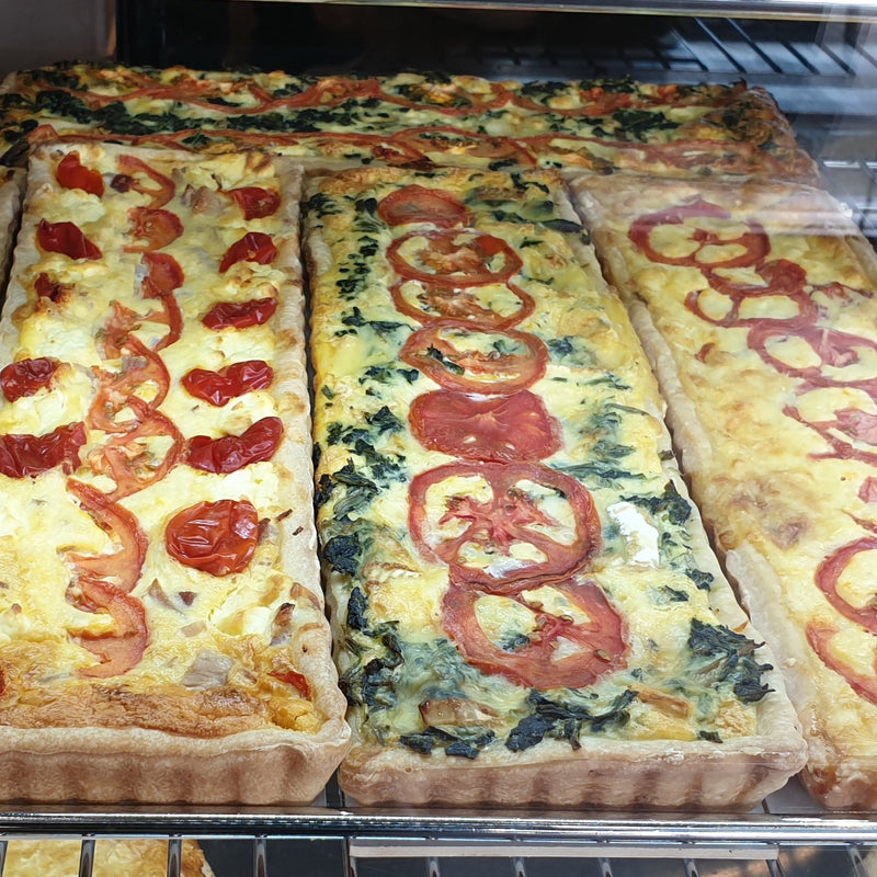 Long Quiche Varieties - Mediteranean Ham with Piquant Peppers - Family PIes, Quiche, savoury