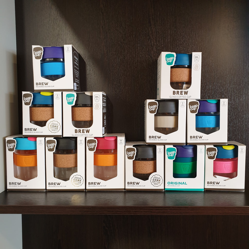 Brew Keepcup Glass-Cork - Large (454ml/16oz) - coffee, cup, gift