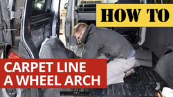 How to Carpet Line a Camper Van Wheel Arch VW T5 T6 Transporter