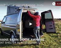 Kiravans Barn Door Campervan Awning - Instant Shelter from Sun, Wind and Rain!