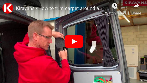 Video: How to trim carpet around a fitted campervan window