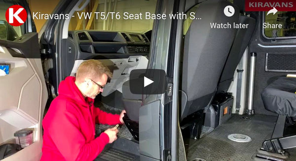 Video: VW T5/T6 Campervan Swivel Seat Base & Safe