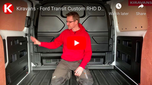 Video: Kiravans Ford Transit Custom DoorStore & PanelStore Storage Pockets