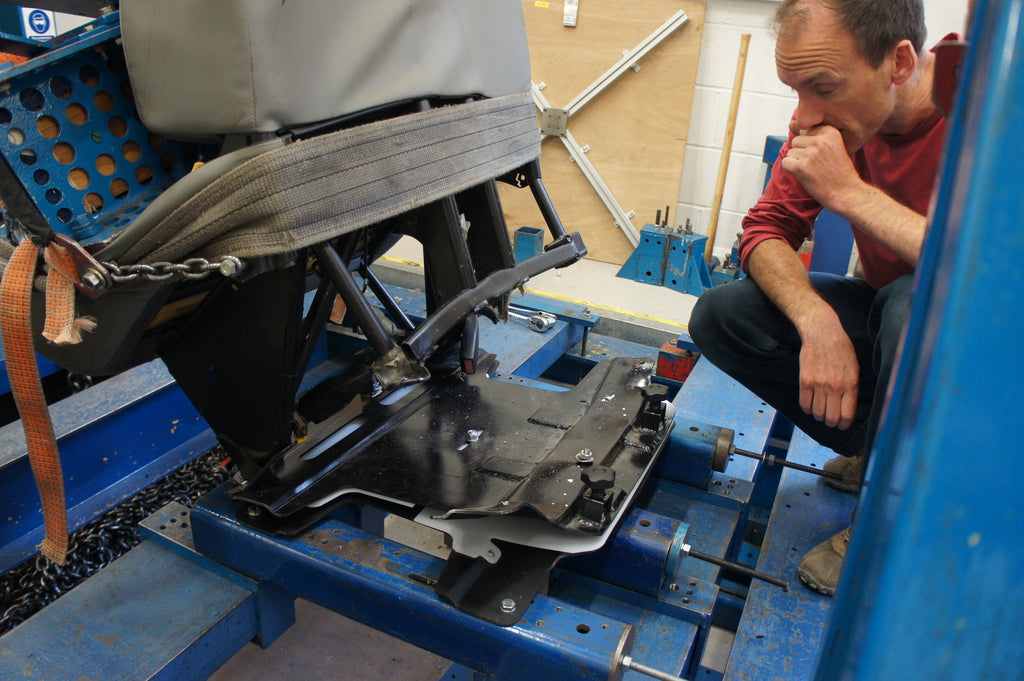 Rob surveys the damage of an early swivel pull test