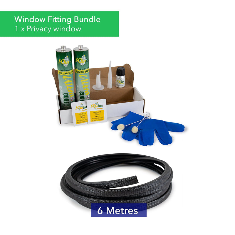 Ultra Cure Campervan Window Adhesive & U-Profile Edge Trim Bundle Kiravans Window Adhesive & U-Profile Bundle - 1 x Window