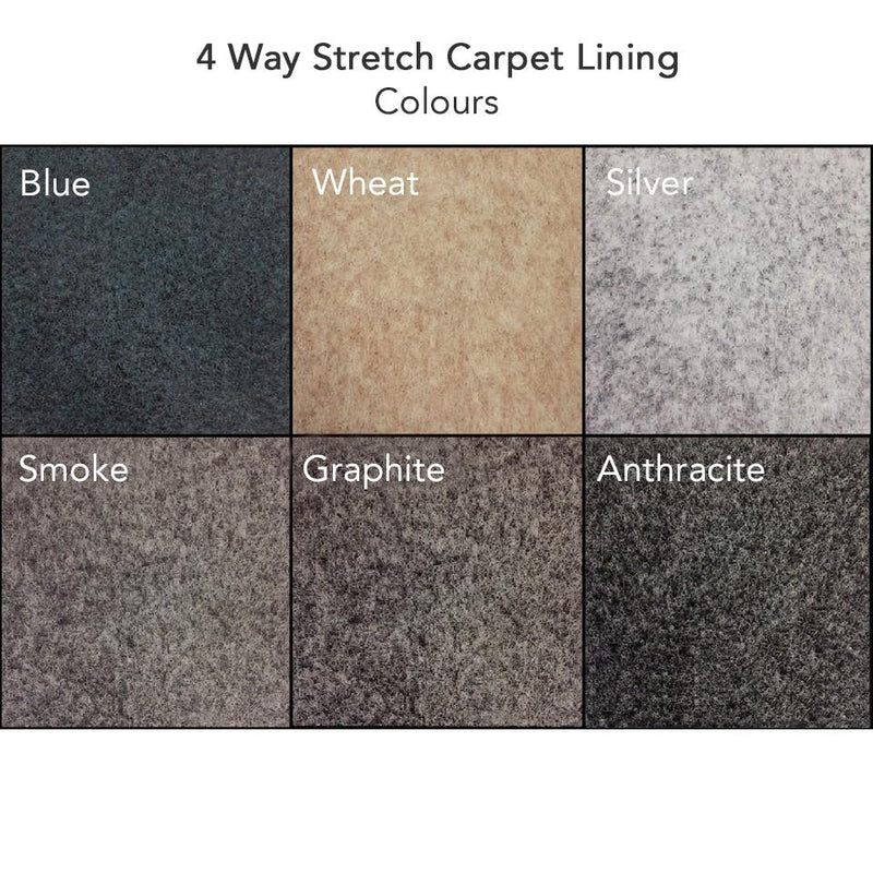 4-Way Stretch Carpet Lining Standard Bundle | Choose Your Colour Kiravans
