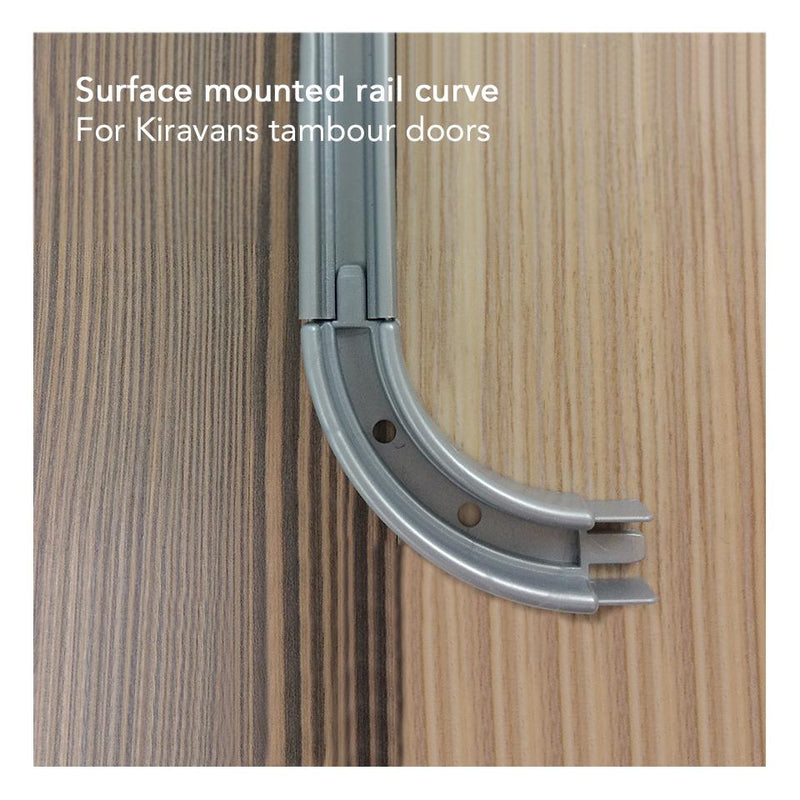 Curve for Surface Mounted Rails Kiravans