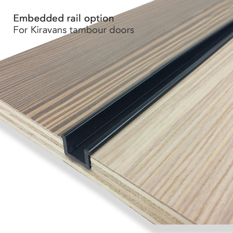 600mm Embedded Tambour Door Rail (Routered-in) Kiravans