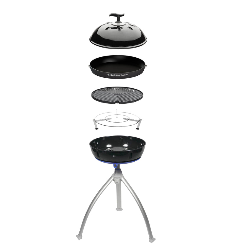 Grillo Chef 2 - Lightweight BBQ & Chef Pan Combo (Piezo Ignition) Cadac