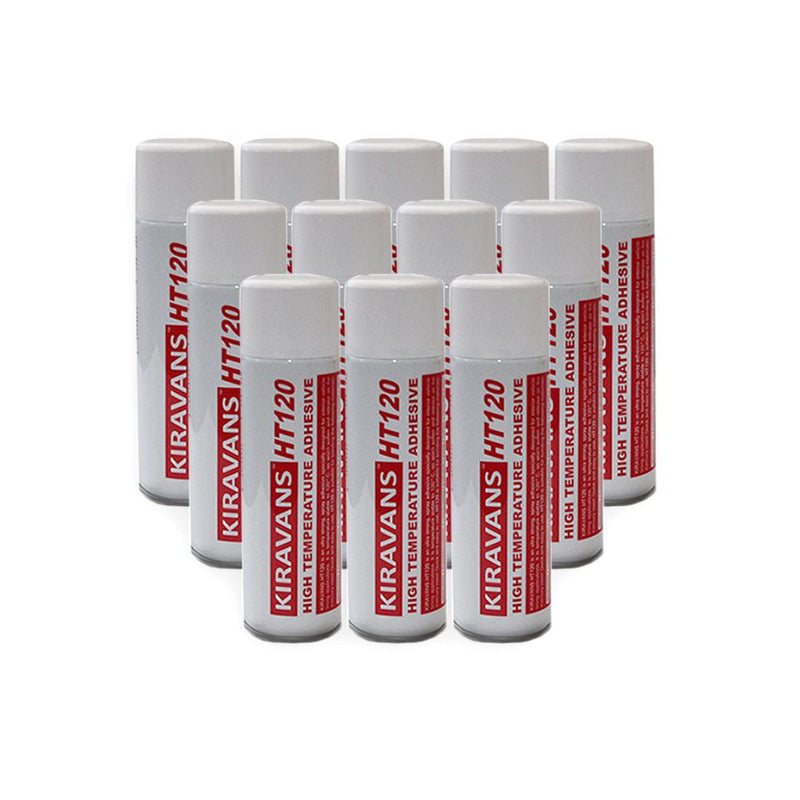 12 x High Temperature Adhesive (500ml Can)