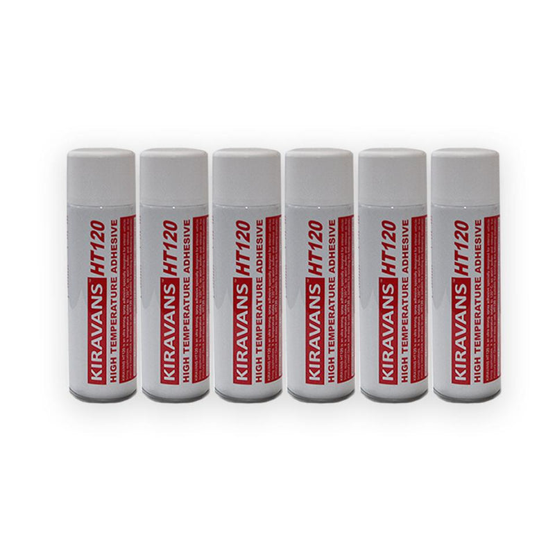 6 x High Temperature Adhesive (500ml Can)