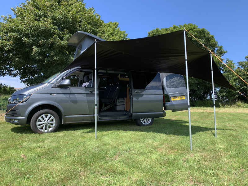 Kiravans Railsail Campervan Awning (for Left Side of Van) Designed by Kiravans