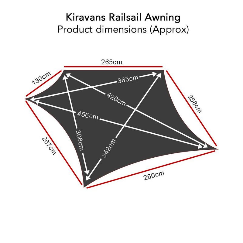 Railsail, Multirail & Adhesive Bundle (Left Side) Kiravans