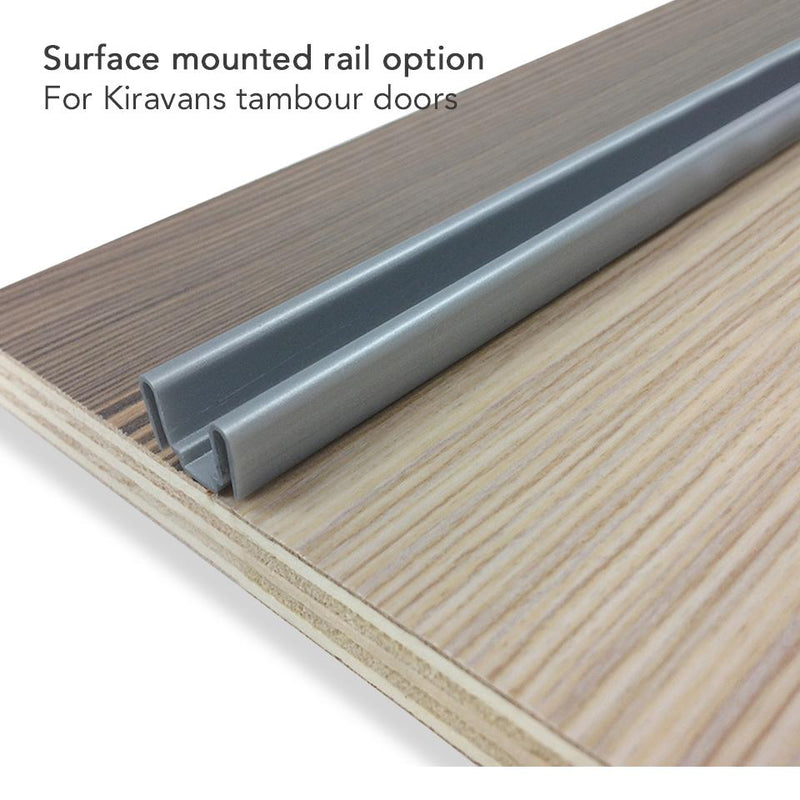 6 x 600mm Surface Mount tambour Door Rail Kiravans