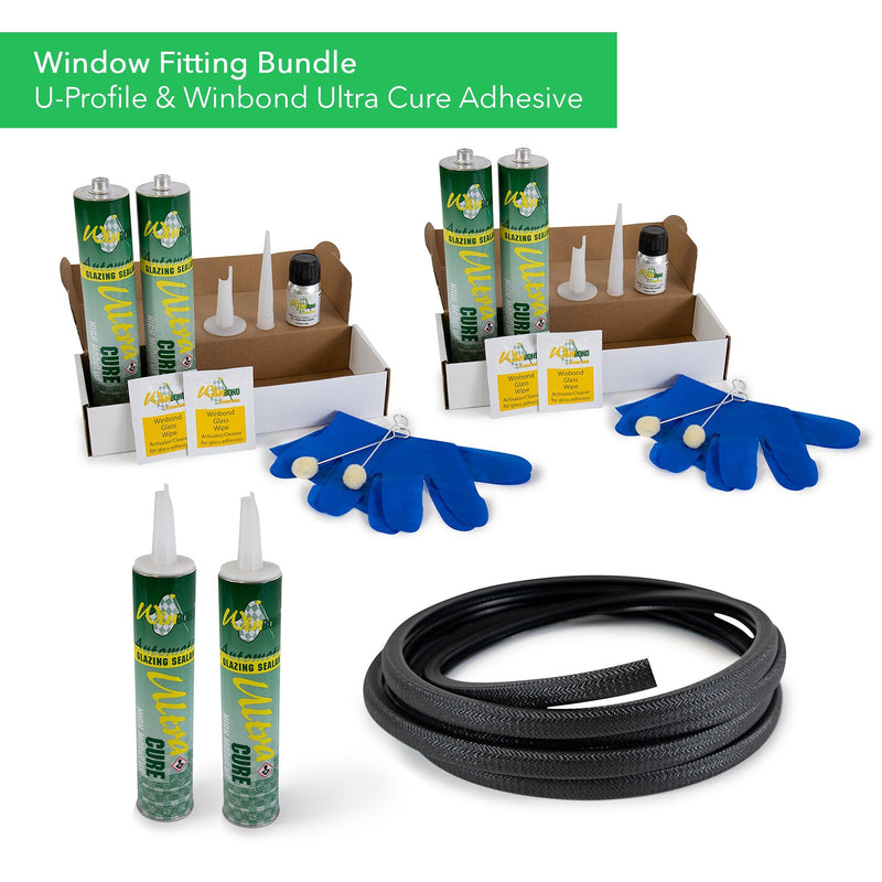 Ultra Cure Campervan Window Adhesive & U-Profile Edge Trim Bundle Kiravans