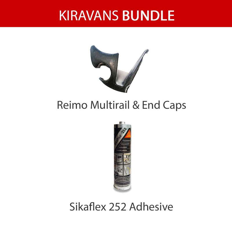 Multirail & Adhesive Bundle (Left Side) - VW T4/T5/T6 Kiravans