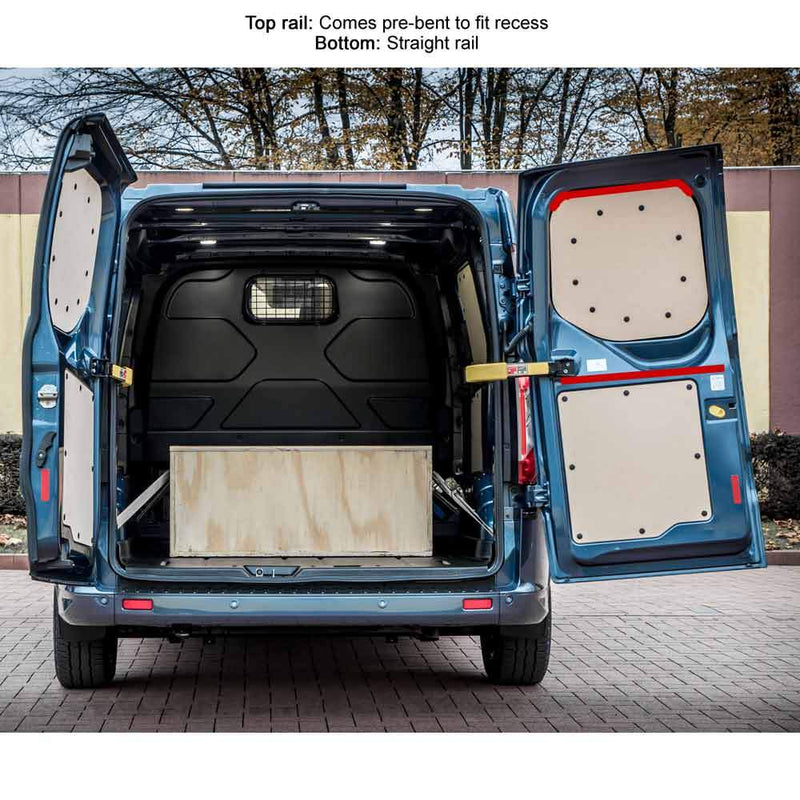 Ford Transit Custom (2013-2019) Van Curtain Kit - Rear Doors (BLACKOUT) Kiravans