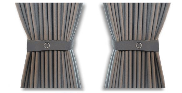 VW T5/T6 Curtain Kit - Left Back LWB (Grey)