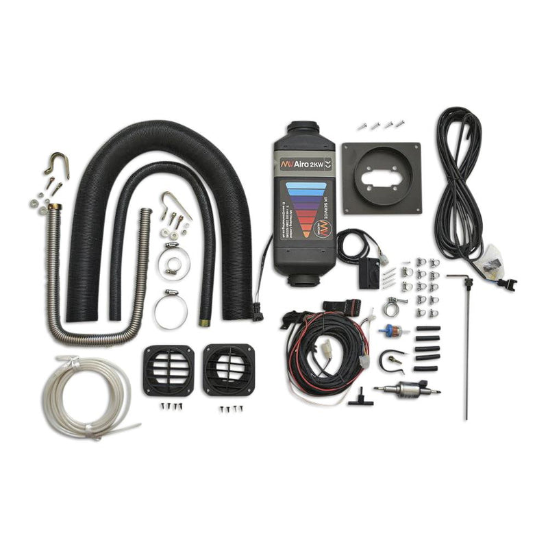 MV Airo 2KW Diesel Heater Complete Kit - For EXTERNAL Installation Kiravans