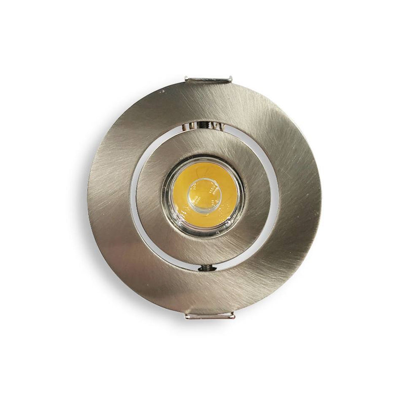 Recessed aluminium campervan downlight 1.5W (Warm White)