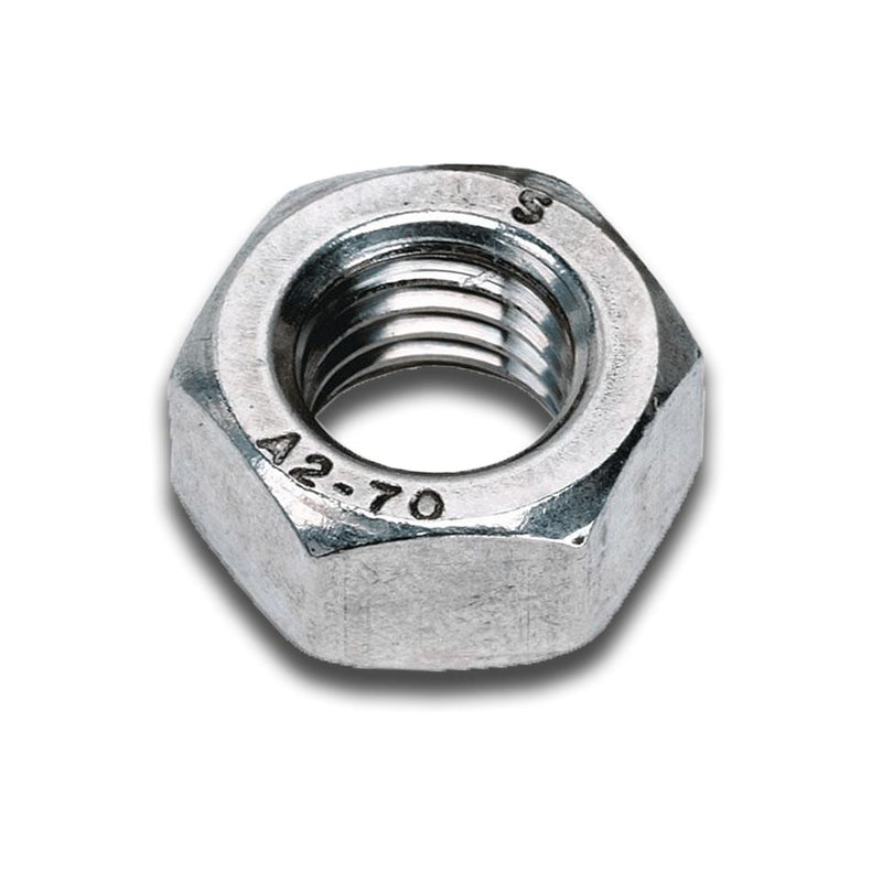 M10 Steel Full Nut Grade 8 Bright Zinc Plated - DIN 934