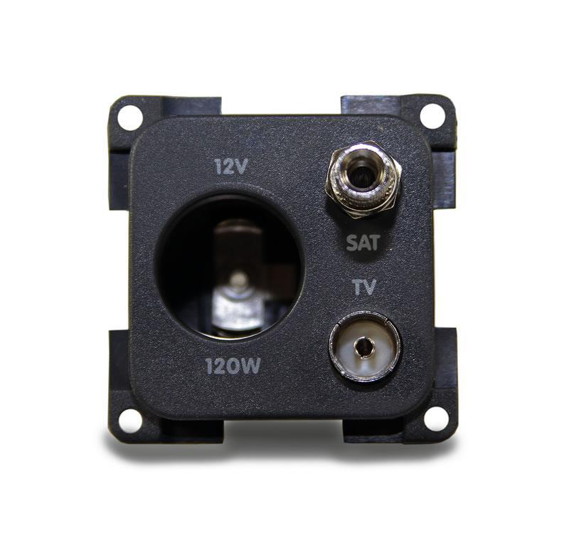 CBE 12V Socket + TV + Satellite Socket