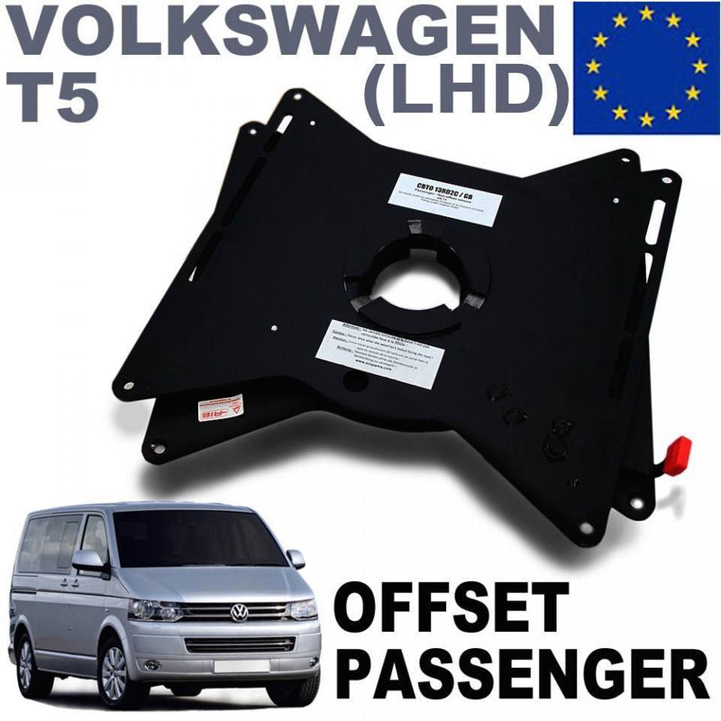 European VW T5 / T6 Passenger side seat swivel (RIB) LHD with offset