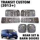 Transit Custom Silver Screens (2013+) - Complete Rear Set with Barn Doors (SWB)