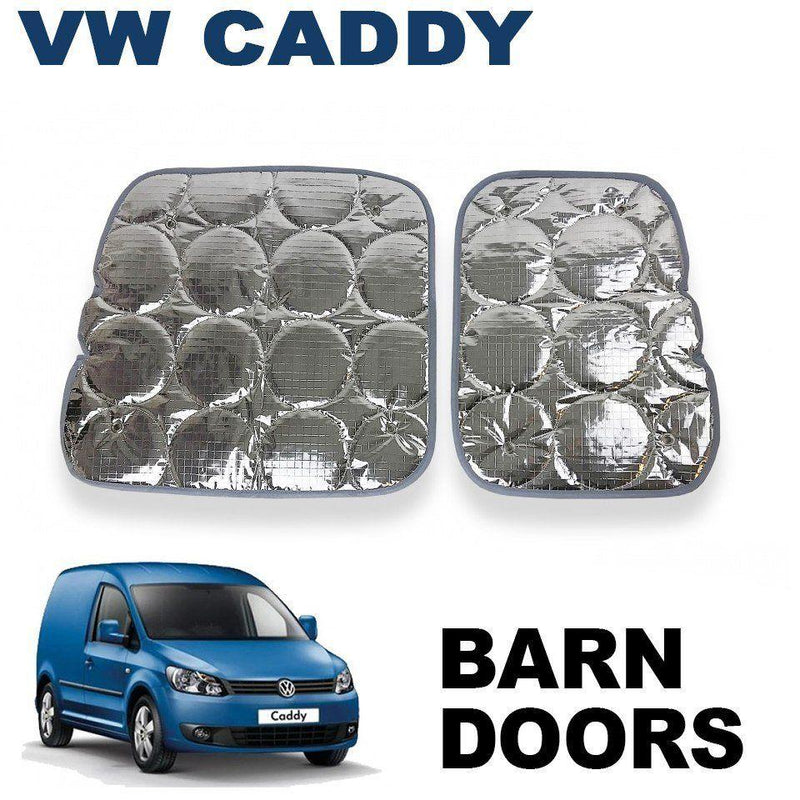 VW Caddy Barn Door Silver Screens