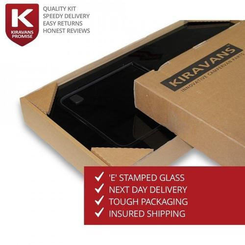 Barn Door Window (Privacy) For Trafic/Vivaro - Left Side Kiravans with Double cardboard 300 KT box with insertsDouble cardboard 300 KT box with inserts