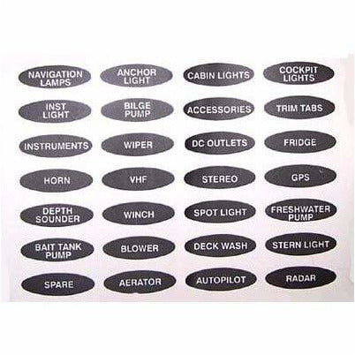 BEP Switch Panel Set Labels 1